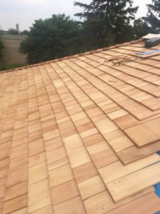 Installation of a stunning new Cedar Roof